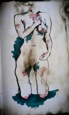 Figure Drawing Rebecca Deegan Sketch Portrait Ink Marker Nude