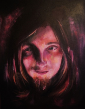 'Wizard of Umber' - Rebecca Deegan Acrylic Painting Portrait Eyes