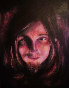 'Wizard of Umber' - Rebecca Deegan Acrylic Painting Portrait Eyes