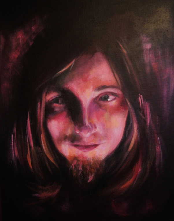 'Wizard of Umber' - Acrylic on canvas board - Rebecca Deegan