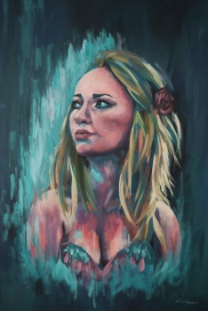 'Adrasteia' - Acrylics on canvas - Rebecca Deegan