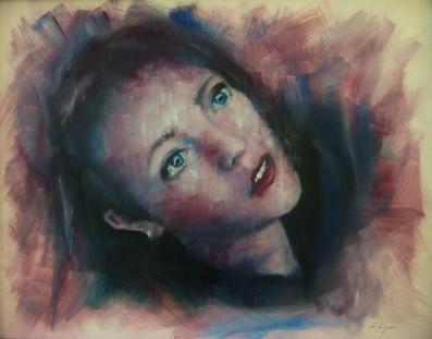 'Escape' - Acrylic + oils on canvas - Rebecca Deegan