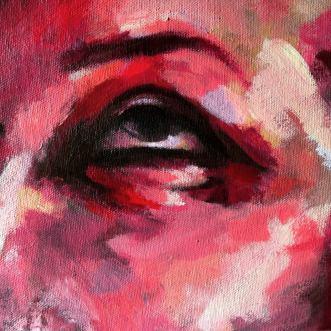 """""""Chloe's Eye"""" - oil on canvas -10x10inch"""