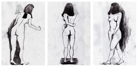 Figure Drawing Rebecca Deegan Sketch Portrait Charcoal Nude Pastel