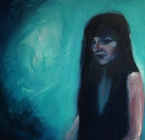 'Go Back' - Oil on canvas - Rebecca Deegan