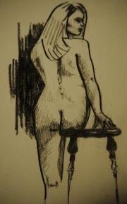 Figure Drawing Nude Charcoal Pencil Rebecca Deegan