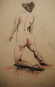 Figure Drawing Rebecca Deegan Sketch Charcoal Nude Conte Chalk