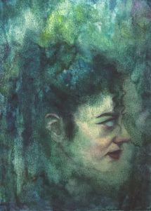 """""""Rosalyn"""" painting for short horror film poster"""